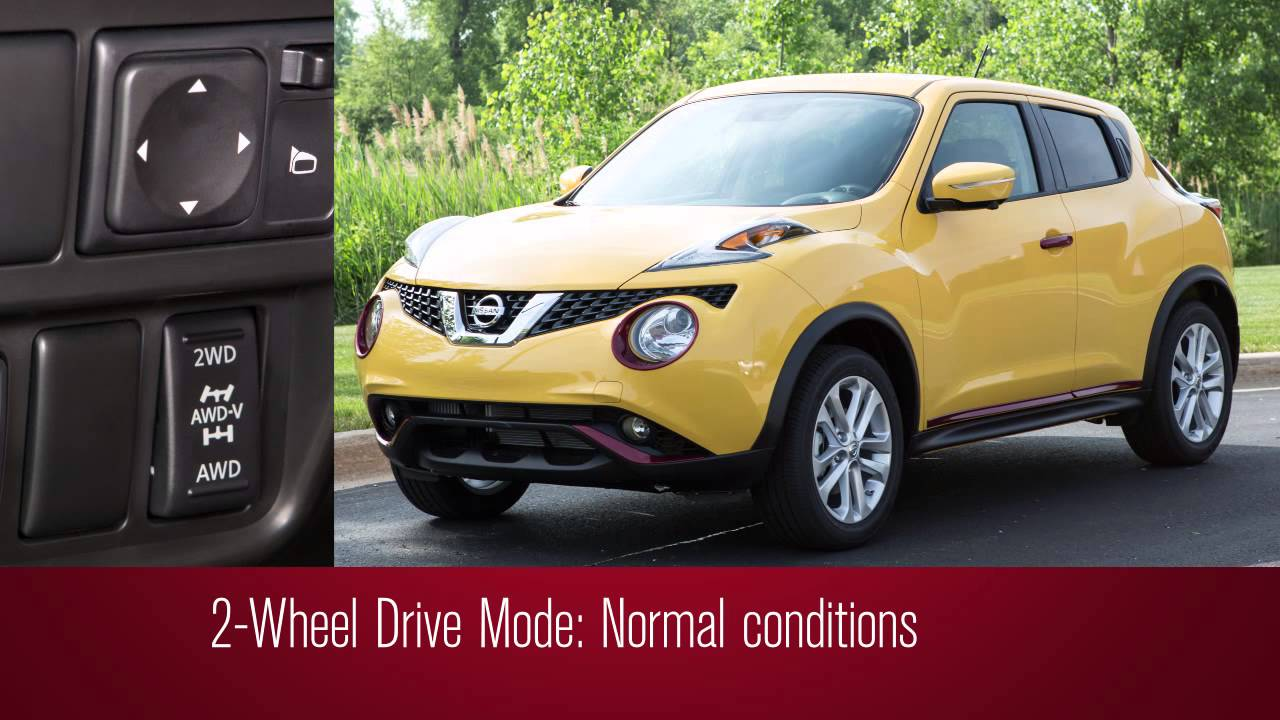 2016 nissan juke all wheel drive mode switch awd youtube. Black Bedroom Furniture Sets. Home Design Ideas