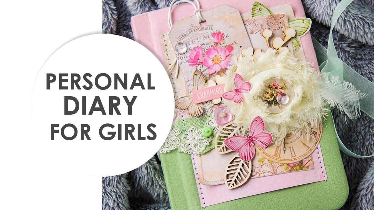 Personal Diary For Girls Romantic Gift Handmade Journal Fabric