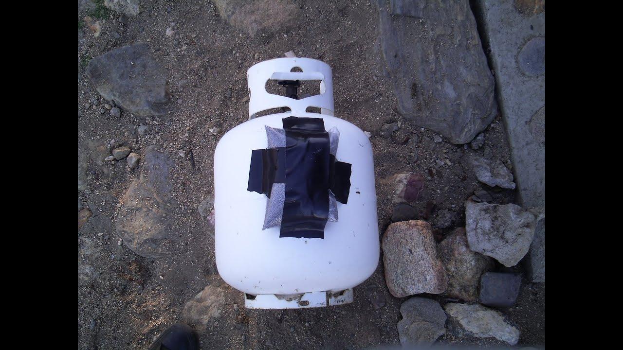 1lb Tannerite Vs Empty 5 Gallon Propane Tank Youtube