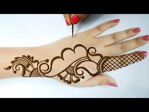 Arabic Mehndi Design for Hand   Easy Mehndi Design   Stylish Mehandi by BeautyZing