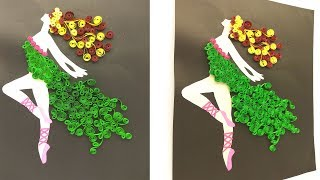 quilled ballet dancing girl/ part 2/ Magic Quill