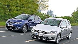 VW Golf Sportsvan vs. Nissan Qashqai