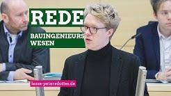 Bauingenieurswesen an der FH Kiel - Meine Rede im Landtag SH