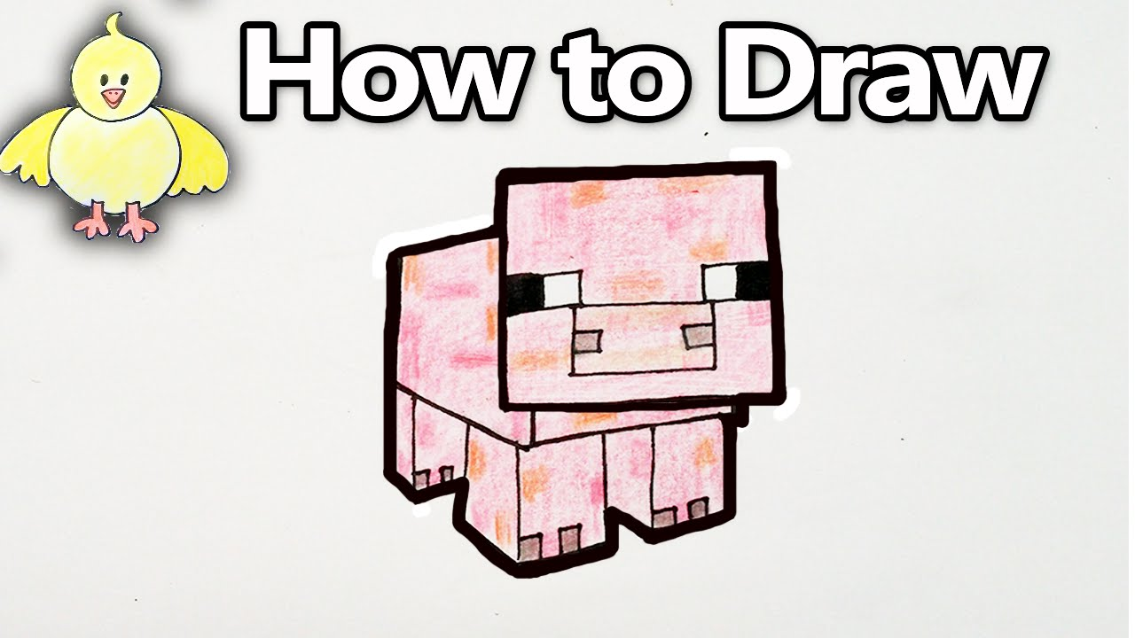 How To Draw A Minecraft Pig  Step By Step