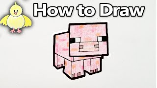 How to Draw a Minecraft Pig - Step by Step