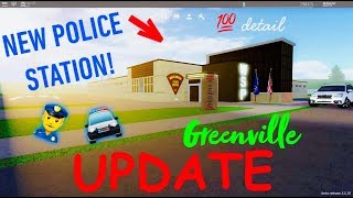 NEW POLICE STATION!! UPDATE IN GREENVILLE!!! ROBLOX!