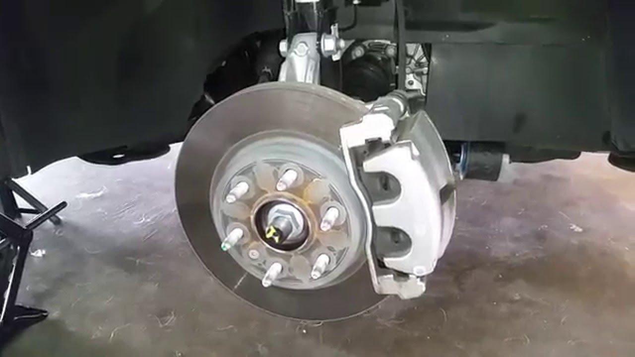 2007 2016 Gmc Acadia Suv Checking Front Brakes Caliper