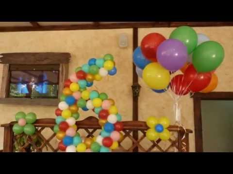 Cмотреть онлайн УКРАШЕНИЕ  ВОЗДУШНЫМИ ШАРАМИ ДЕТСКОГО ДНЯ РОЖДЕНИЯ BALLOON DECORATION IDEA FOR BIRTHDAY PARTY