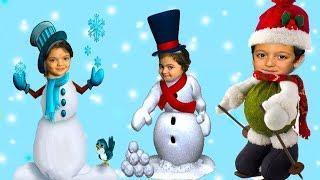 KARDAN ÇOCUKLAR EĞLENMEYE DOYAMADI VE KOMİK ANLAR - Comedy for Kids  Snowman