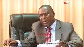 Waziri wa kilimo,mifugo na uvuvi  Dkt  Charles Tizeba atakaye unza mbolea kinyume na bei elekezi aka
