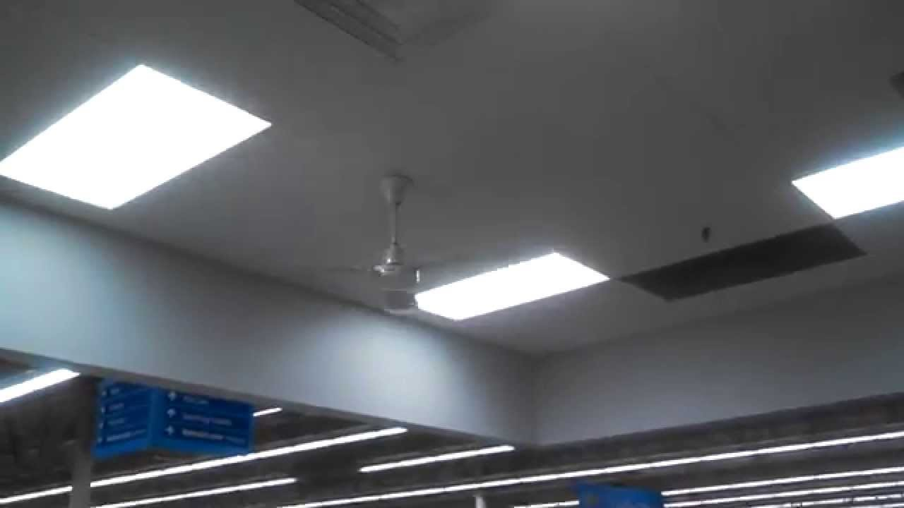 hrs ceiling fans in a walmart/subway - youtube