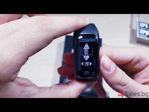 Водоустойчива смарт гривна  крачкомер GPS измерване на сърдечен ритъм батерия  до 20 дни  4Sales.bg