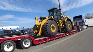 3496 caterpillar on a lowboy trailer