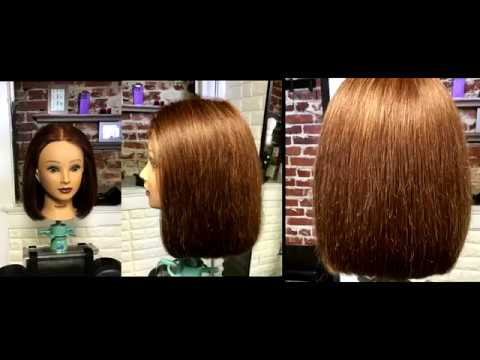 One Length Haircut Tutorial Step By Step Demonstration Preview
