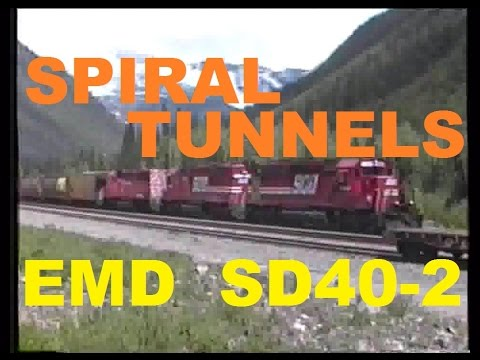 Canadian Pacific CP Rail Trains ~ Spiral Tunnels ~ Rocky Mountains ~ Notch Hill ~ 1994