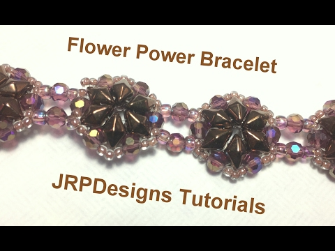 Flower Power Bracelet-intermediate level tutorial left handed