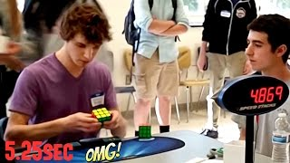 rubik s cube world record 5 25 sec collin burns slow motion