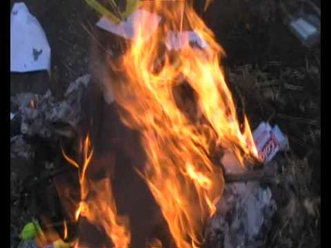 Burning My School Jumper! - LMS Leavers 2009