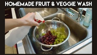 Make Your Own Fruit & Veggie Wash