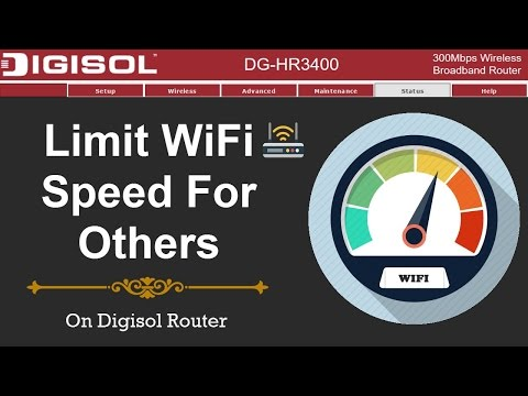 How To Limit WiFi Speed For Others On Digisol Router - Control Bandwidth