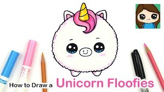 How to Draw a Baby Unicorn Easy | Floofies Fluffy