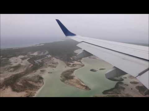 Jetblue Embraer 190 Approach and Arrival at Providenciales, Turks and Caicos