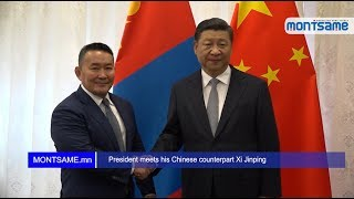 President meets his Chinese counterpart Xi Jinping