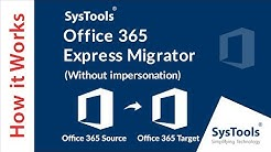 Office 365 to Office 365 Migration - Without Impersonation