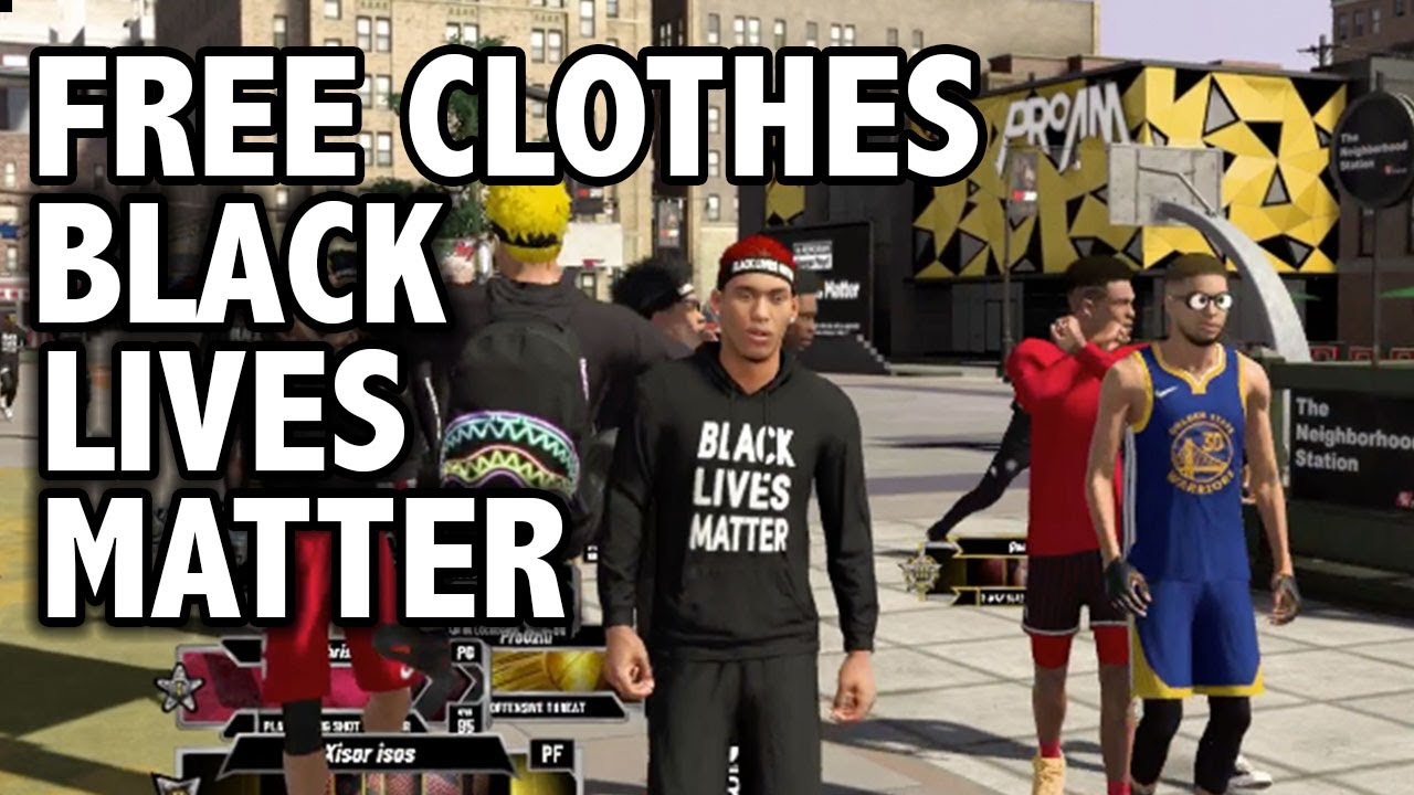 NBA 2K20 FREE BLACK LIVES MATTER CLOTHES + 2K COMMUNITY SUPPORTS BLM! SUPPORT LINKS HERE!