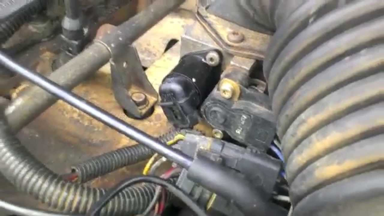 1989 Jeep Wrangler Wiring Diagram Fuel Pump 2000 Chevy Silverado 89 Cherokee Idle Air Control Valve (iac) Replacment - Youtube