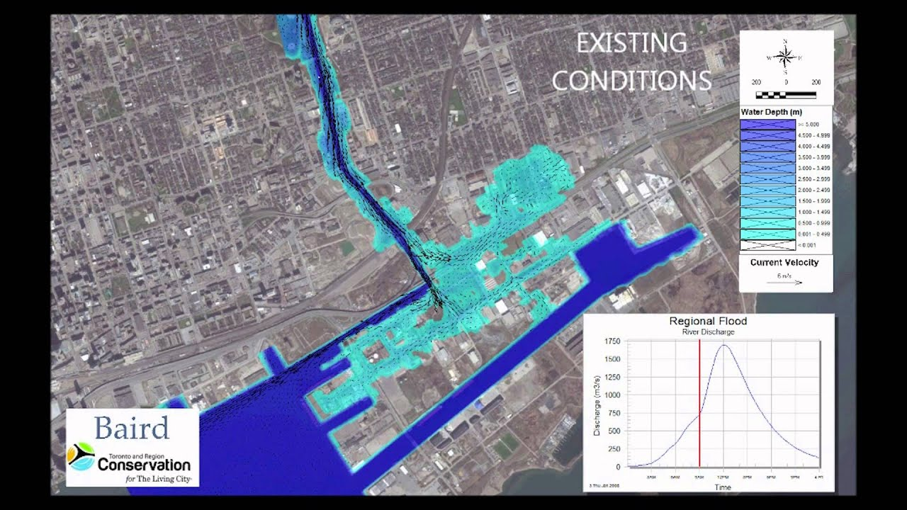 Don River - Existing Conditions - Water Depth and Velocity fast ...