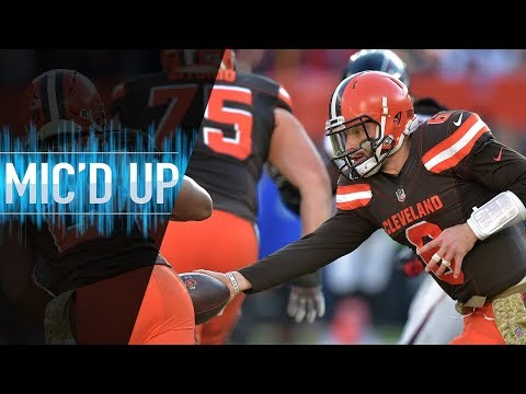"Baker Mayfield Mic'd Up vs. Falcons ""Did you see my handoff though?"" 