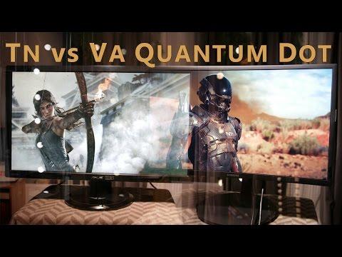 VA vs TN Monitor Samsung CFG70 vs ASUS VG278HE [GER]