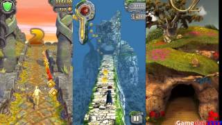 TEMPLE RUN 2 vs TEMPLE RUN BRAVE vs TEMPLE RUN OZ - Free Games Review (iOS, Android)