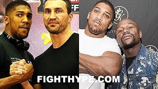 ANTHONY JOSHUA COMPARES KLITSHKO TO MAYWEATHER IN 40'S; EXPLAINS WHY HE DESERVED CREDIT FOR WIN