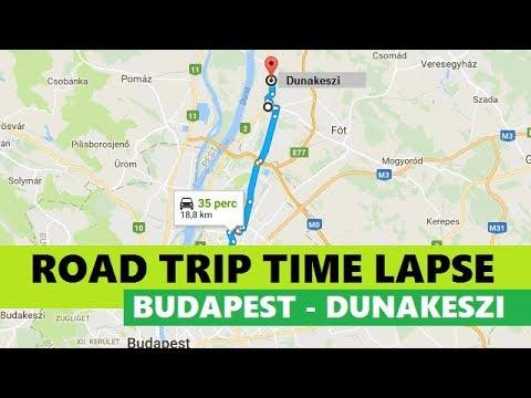 Road trip time lapse - Budapest-Dunakeszi, Hungary