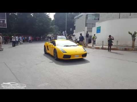 Lamborghini Aventador,Huracan and Gallardo in Surat car expo 2017