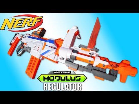Nerf REGULATOR Blaster Automatique Modulus N-Strike Jouet Toy Review Juguetes Hasbro