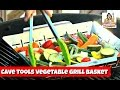 How to Make Grilled Vegetables ~ Cave Tools Vegetable Grill Basket ~ Amy Learns to Cook