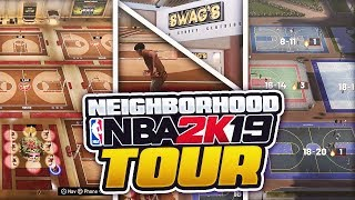 ALL *NEW* PARKS, STAGE & NEW PLACES IN NBA 2K19! NEW NEIGHBORHOOD TOUR & REVIEW + REP REWARDS