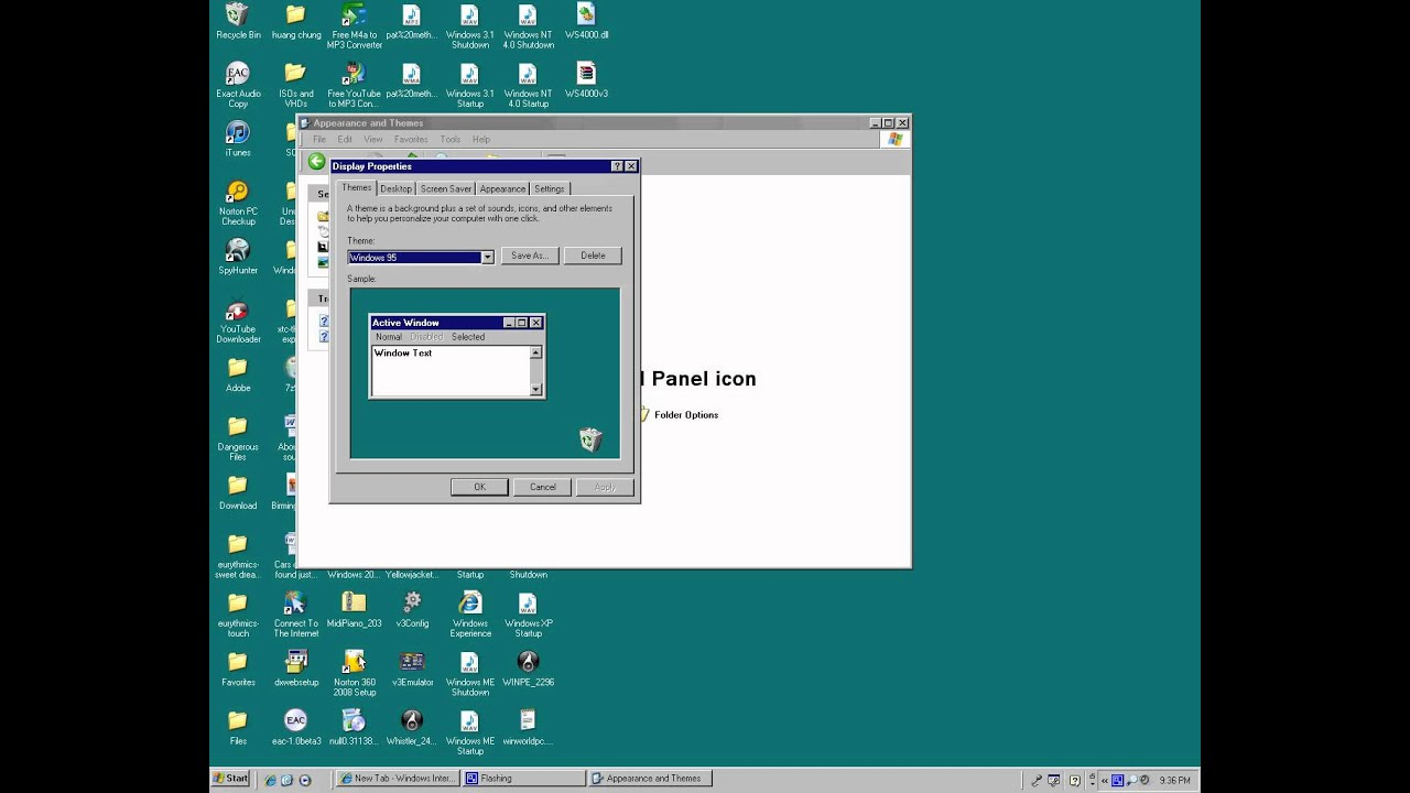 Image gallery windows 95 xp for Windows 95 startup sound