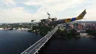 Украинские боевые вертолеты над Днепропетровском(Всем здравствуйте, начнем сразу с главного. ЭТО видео – (Fake — по-английски означает «подделка)». Сразу посл..., 2014-07-15T06:51:38.000Z)
