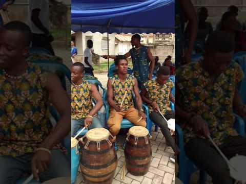 Drumming at the Asogli Palace, Ho Ghana