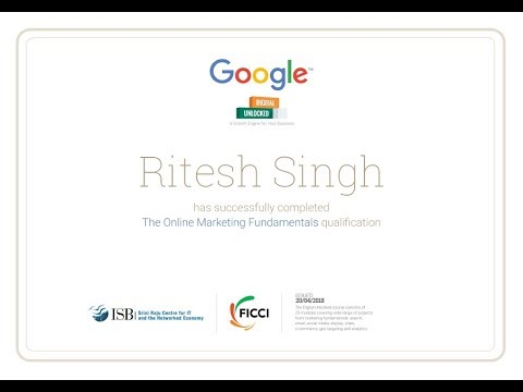 Google Digital Unlocked Certificate final exam answers