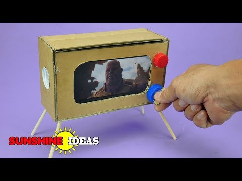 How To Make MINI Television From Cardboard ทำ TV จิ๋วใช้เอง ดูหนังฟังเพลง เสียงดังฟังชัด