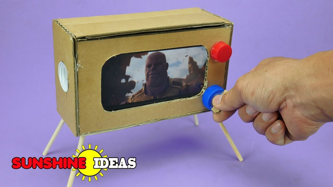 How To Make MINI Television From Cardboard DIY ทำ TV จิ๋ว ...
