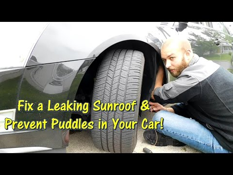 How to Fix a Leaking Sunroof & Prevent Puddles in Your Car