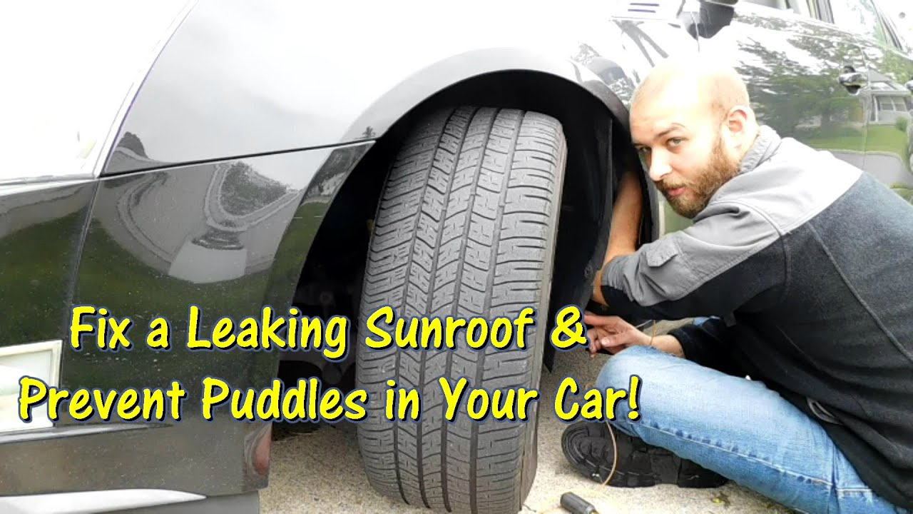 how to fix a leaking sunroof \u0026 prevent puddles in your car byhow to fix a leaking sunroof \u0026 prevent puddles in your car by @gettinjunkdone