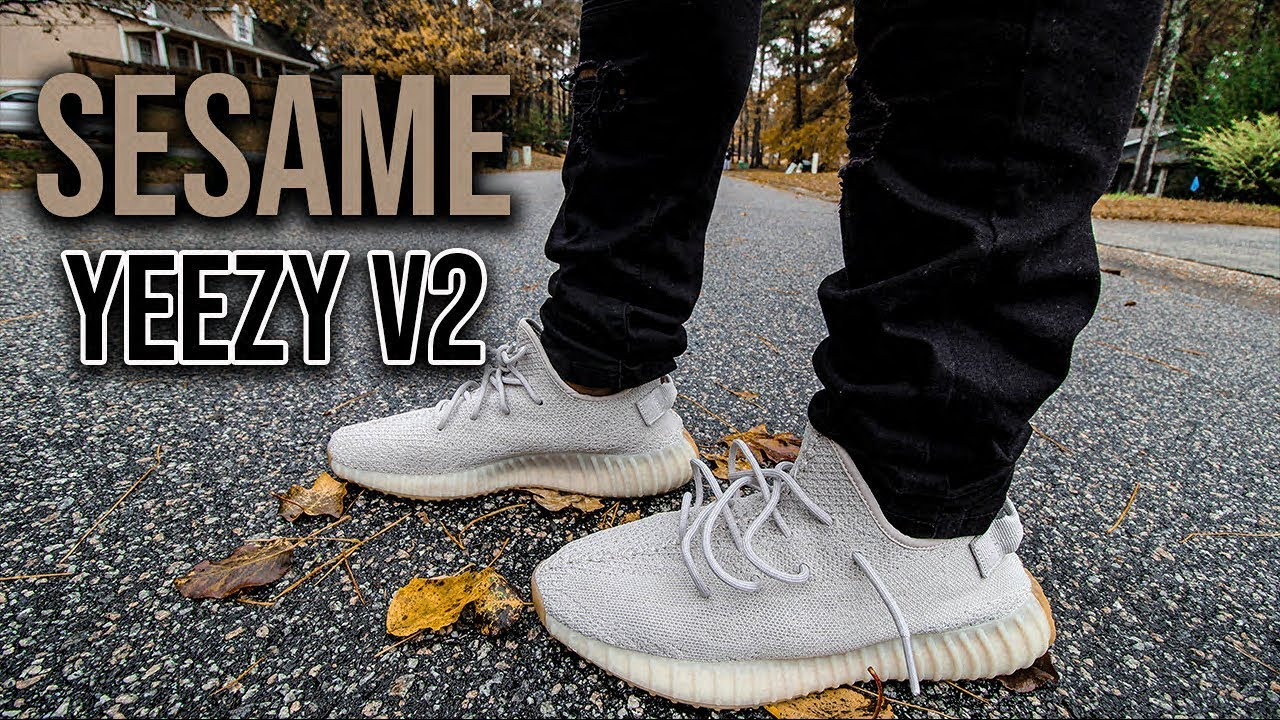 de949b6f88 Adidas Yeezy 350 V2 Sesame Review And On Foot - YouTube
