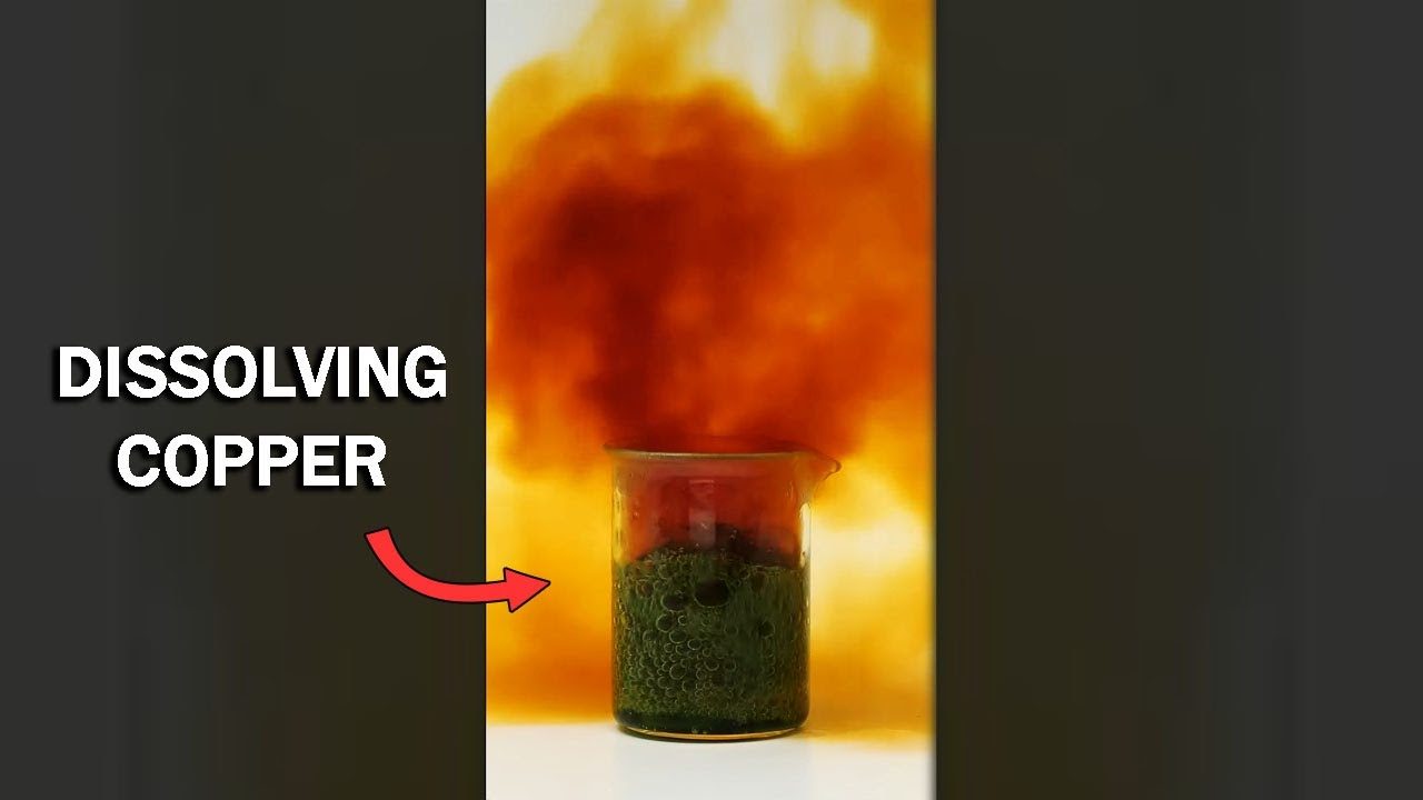 Destroying copper wire in nitric acid